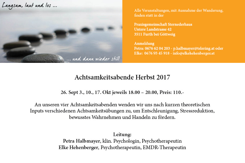 Achtsamkeit Seminar Krems